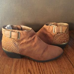 Material Girl Gold Studded Booties
